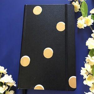 kate spade Office - Kate Spade Note Book Black Gold Polka Dot